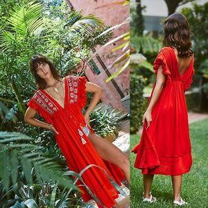 NWT Free People Bali Will Waite For You Midi Dress